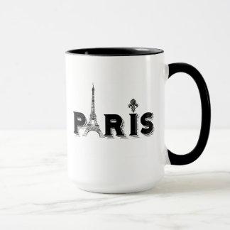 Coffee Mug-black and white-PARIS Mug