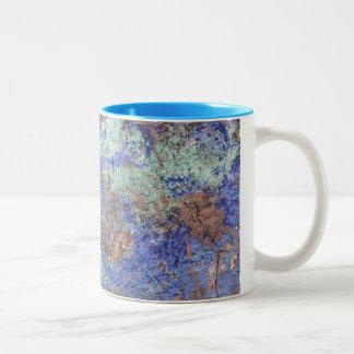 Coffee Mug--Blue Copper Two-Tone Coffee Mug