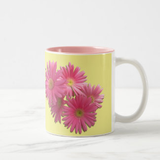 Coffee Mug - Dark Pink Gerbera Daisies