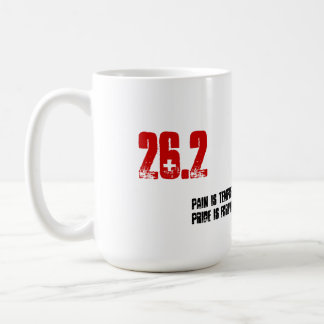 Coffee Mug for Runner - 26.2 Pain is Temporary