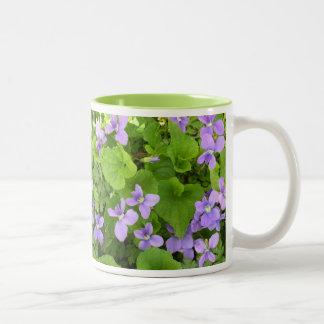 Coffee Mug - Herb Violets - Mirrored