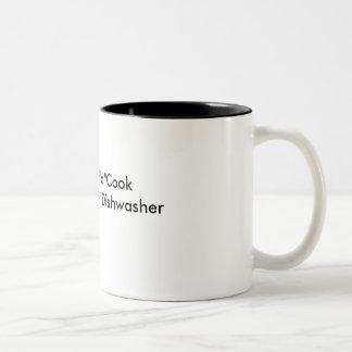 Coffee Mug-Hot cook, hot dishwasher Two-Tone Coffee Mug
