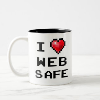 """Coffee mug """"I love web safe"""""""