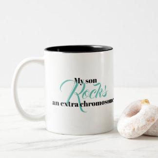 "Coffee Mug ""My son rocks an extra chromosome"""
