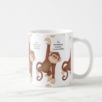 Coffee Mug of Monkeys and Sayings