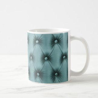 "Coffee Mug ""Pastel teal capitone"""
