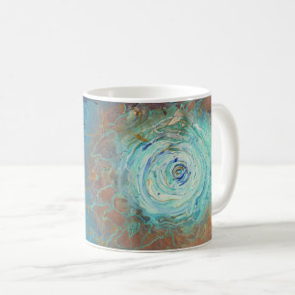 Coffee mug pattern inspired by galaxies and chaos.
