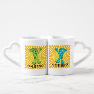 Coffee Mug Set Munchi Power!  Munchimonster & Mrs