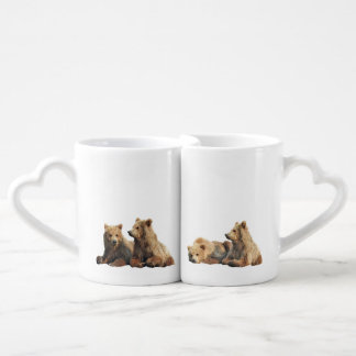 Coffee Mug Set w/ grizzly bear cubs