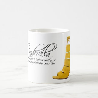 Coffee Mug Tea Cup Cinderella Yellow Shoes Quote