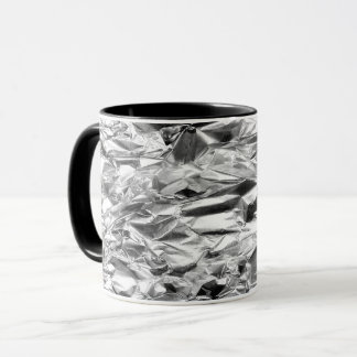 COFFEE MUG Tin Foil Silver Metal Aluminum Pattern