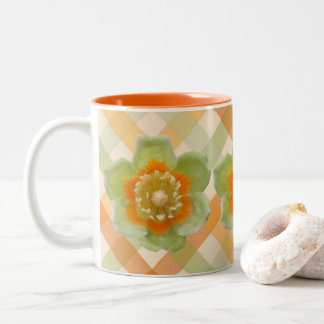 Coffee Mug - Tulip Poplar Tulip on Checks