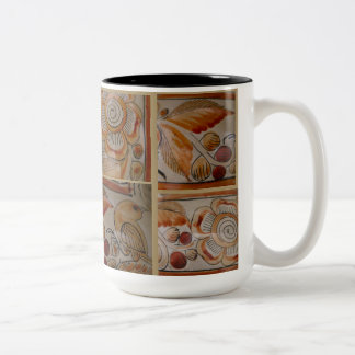Coffee Mug Vintage Mexican pottery mosaic design