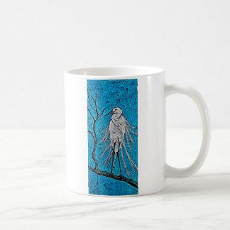 Coffee Mug with Batik Egret