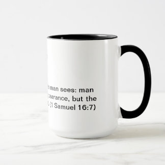 Coffee mug with Bible verse 1 Samuel 16:7