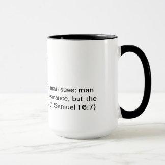 Coffee mug with Bible verse 1 Samuel 16:7