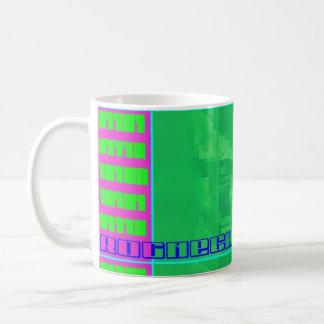 Coffee mug with binary cat