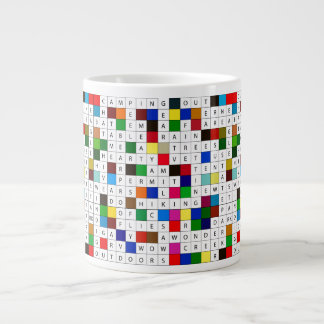 Coffee Mug with Camping Crosswords