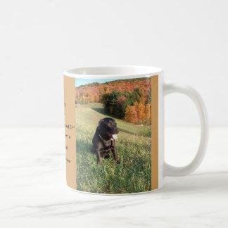 Coffee Mug with cover photo of Black Labrador