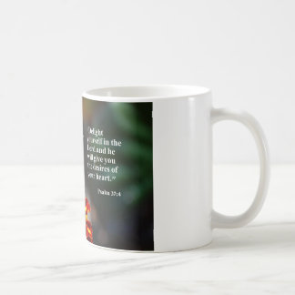 coffee mug with delight yourself in the Lord
