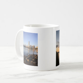 Coffee Mug with differing views of the sunset.