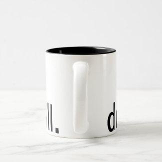 Coffee Mug with drill design.