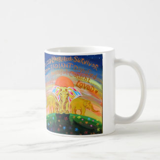 coffee mug with elephant design