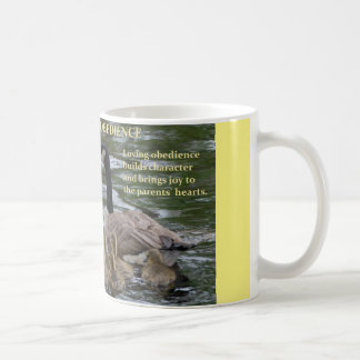 coffee mug with family of geese - obedience