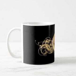 COFFEE MUG WITH GOLDEN GLOBE CREST