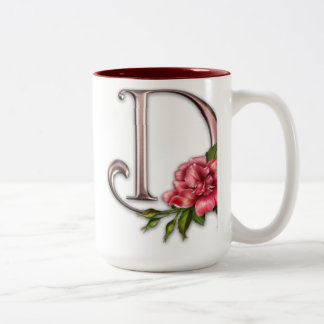 Coffee Mug with Gorgeous Ornate Initial D