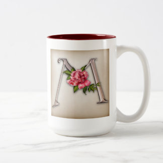 Coffee Mug with Gorgeous Ornate Initial M