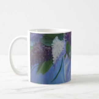 Coffee Mug with Lilacs
