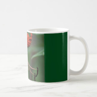 coffee mug with orange spotted lily