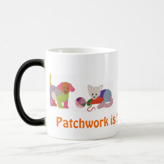 Coffee mug with Patchwork Pets