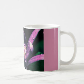 coffee mug with pink flower