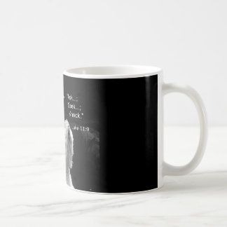 coffee mug with praying polar bear