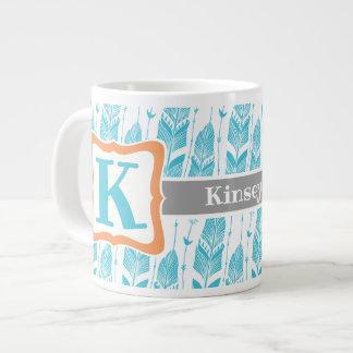 Coffee Mug with Southwestern Feather Design