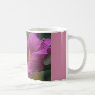coffee mug with violet lily