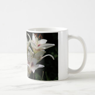 coffee mug with white lilies