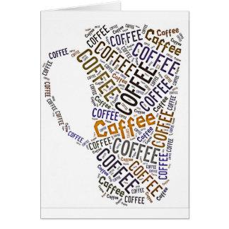 Coffee Mug Word Art Greeting Card
