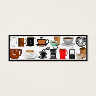 Coffee Mugs (Add Background Colour) Mini Business Card