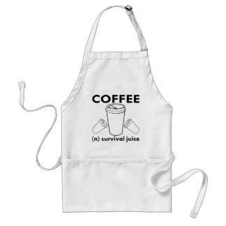 Coffee (n) Survival Juice Standard Apron