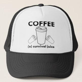 Coffee (n) Survival Juice Trucker Hat