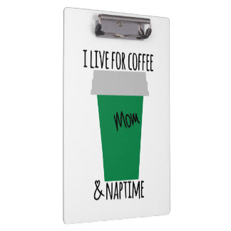 Coffee & Nap Time Clipboard