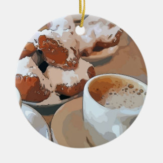 Coffee New Orleans Ceramic Ornament