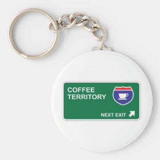 Coffee Next Exit Keychain