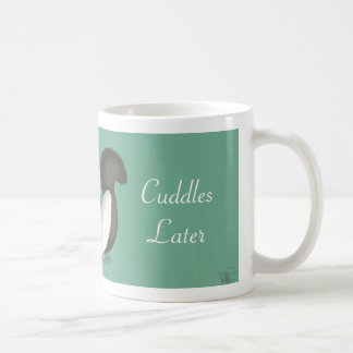 Coffee Now Cuddles Later Cat Mug