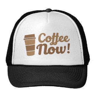 coffee now trucker hat