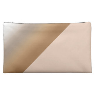 Coffee Ombre Watercolor Brown Color Patterns Cosmetics Bags