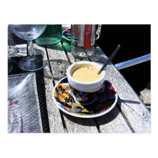 Coffee on Normandy Beach Postcard